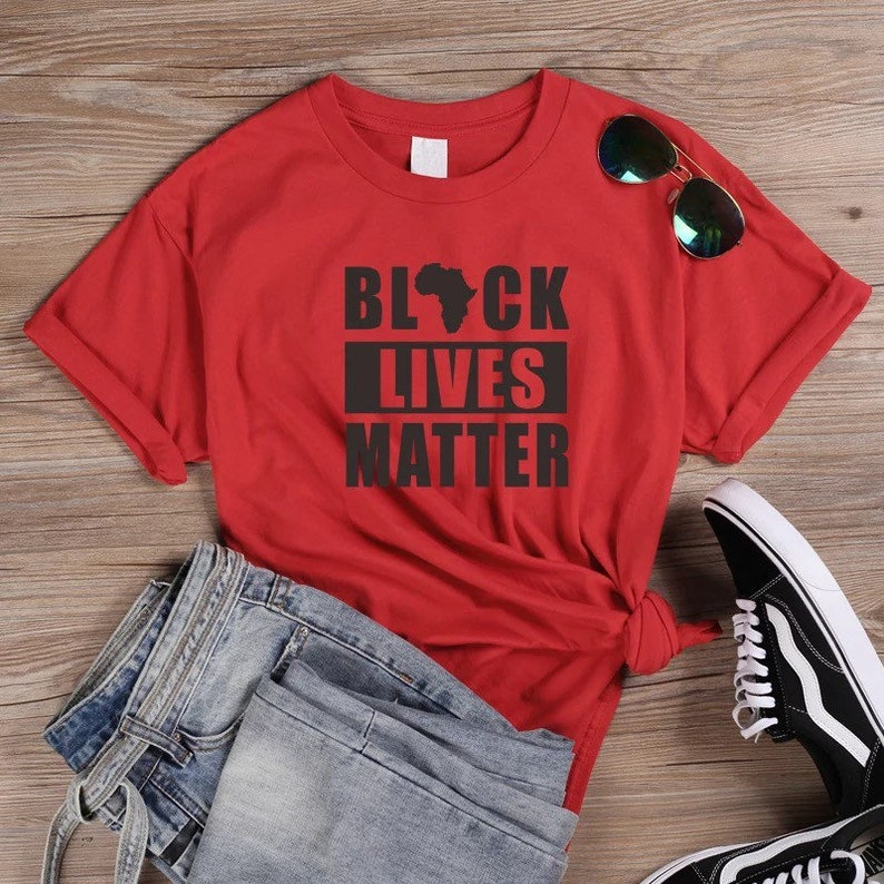 Black Lives Matter Slogan T Shirt Balck Culture Tees Women  Africa Map Graphic T Shirts Streetwear Harajuku Tops