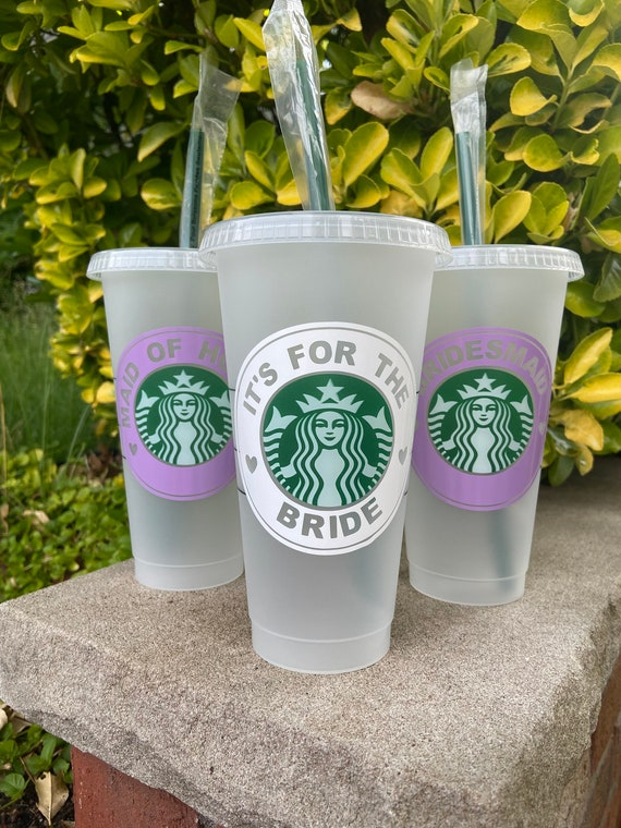 Mother of the Groom Cup ~ Wedding Party ~ Starbucks Reusable Cup ~ Custom Cup ~ Bridal Party ~ Bridal Shower