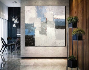 large abstract painting original, extra large abstract art, palette knife painting, modern abstract painting on canvas, textured art A246