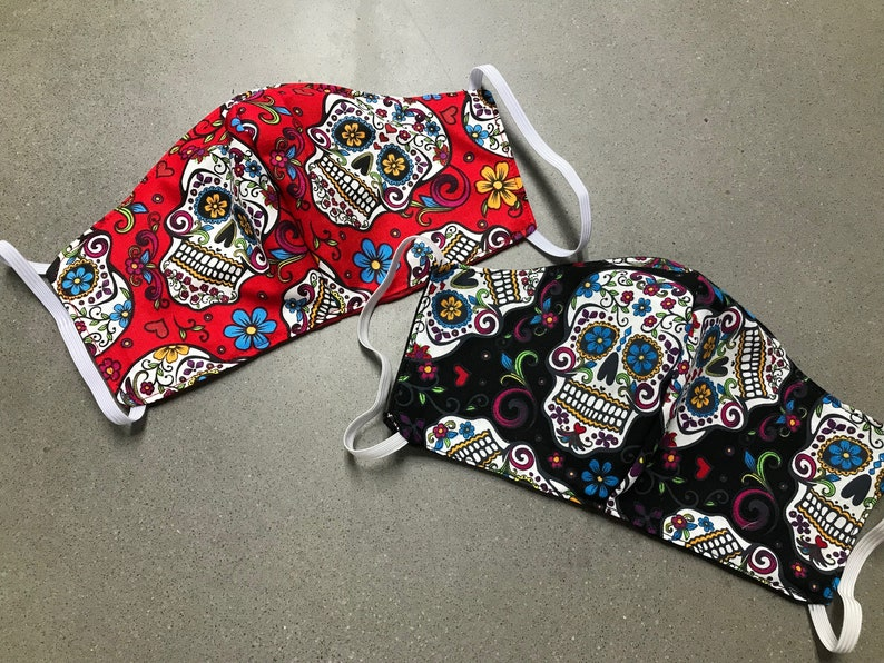 Sugar Skulls Face Mask  All Sizes Available image 0