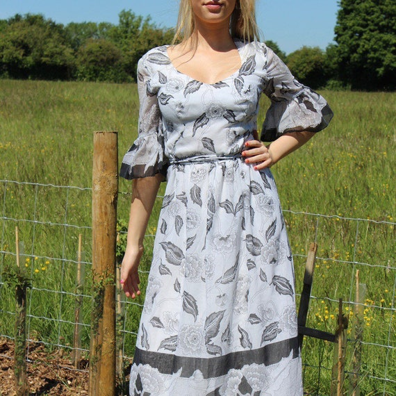 Vintage Kati Laura Phillips Prairie Maxi Dress 197