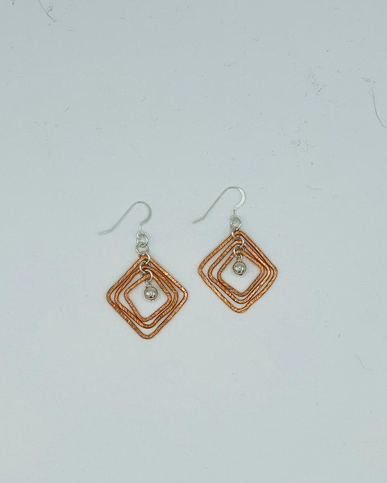 Copper /& Silver Earrings