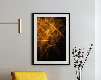 Abstract Wall Art Print - Gold