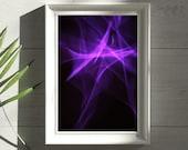 Abstract Wall Art Print - Purple