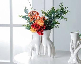 Ceramic Hand Shaped Vase