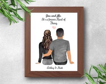 Anniversary Gift, Personalised Couples Print, Custom Print, Boyfriend Gift, Girlfriend Gift, Couples Print, Boyfriend Gift, Girlfriend Gift
