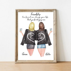 Custom Print Best Friend Gift// Friendship Gift Personalised Bestie Print