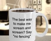 Scream fencing mug