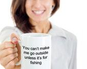 Fishing mug funny novelty humorous birthday cup