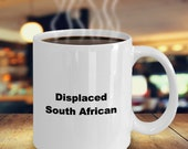 Displaced south african mug
