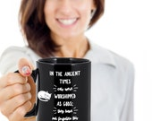 Ancient cat worship mug - black