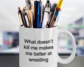 Wrestling Coffee Mug, Wrestler Mug, Wrestling Gifts, Wrestling Warrior Mug, Wrestling Coach Mug, Wrestling Gift Idea, Wrestling Fan Mug