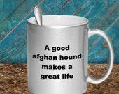 A good afghan hound mug