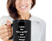 Gift mug guitar funny novelty humorous birthday cup gift ideas for men and women black