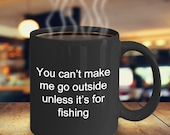 Fishing mug personalized funny novelty mug humorous birthday cup
