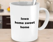 Iowa home sweet home mug