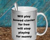 Play bowed clavier mug
