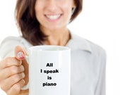 Gift mug piano funny novelty humorous birthday cup gift ideas for men and women