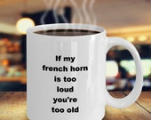 French horn mug