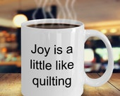 Joy little quilting mug