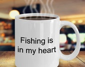 Fishing heart mug