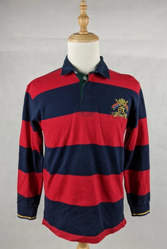 Vintage Polo Striped Rugby Stripe Shirt