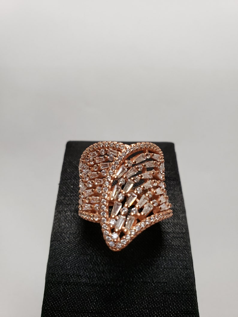 Ring Plated Rose Gold Plated White Gold Angel Wings