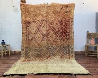 5.6 x 9.2 FT - Large rug - vintage rug - wool rug - Boujaad rug - Moroccan rug - berber rug - kilim rug