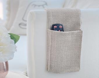Remote Control Caddy With Two Pockets,Sofa Armrest Organizer,  Bedside Storage Organizer