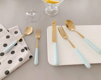 Housewarming Bridal Shower Hostess Gift Eco Friendly Zero Waste Silverware Utensil Place Holder Table Setting Decor