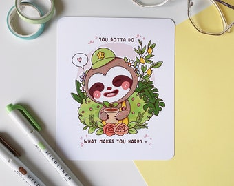 Happy Leif Print / Animal Crossing Print / Animal Crossing New Horizons / Kawaii Art Print