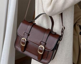 Satchel Shoulder Bag, Vegan Bag, Cross Body Bag, Gift For Her, Vegan Gift, Birthday Gift, Valentine's Gift, Messenger Bag, Bag for Women