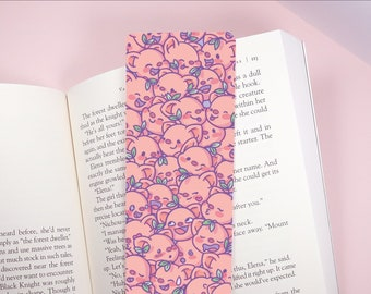 Pigleaf Pattern BOOKMARK ⋰ Cute Pig Kawaii ⋰ Bookmark ⋰ Silly Faces ⋰ Kawaii Bookmark ⋰ Adorable Bookmark ⋰ Pig Bookmark