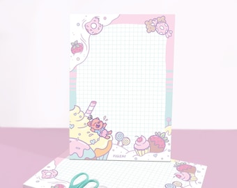 Pigleaf Sweet & Kind-y A5 Notepad ⋰ 50 Sheets ⋰ Stationery Notepad Letter Paper ⋰ Lined A5 Stationary Pad ⋰ Letter Paper ⋰ Penpal Paper