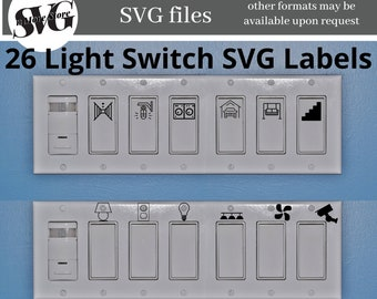 Custom Light Switch Labels   Light Switch Stickers  Light Plate Labels  Office Labels