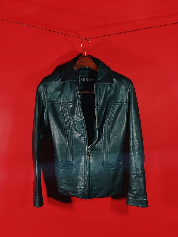 Flawless 1990's GUESS Leather Jacket