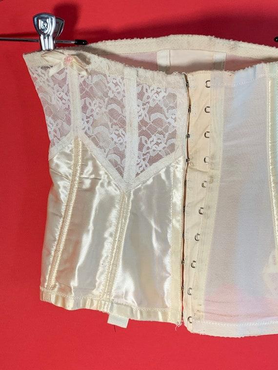 Vintage Lady Marlene White Lace Garter Belt Corset - image 2