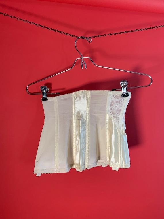 Vintage Lady Marlene White Lace Garter Belt Corset - image 8