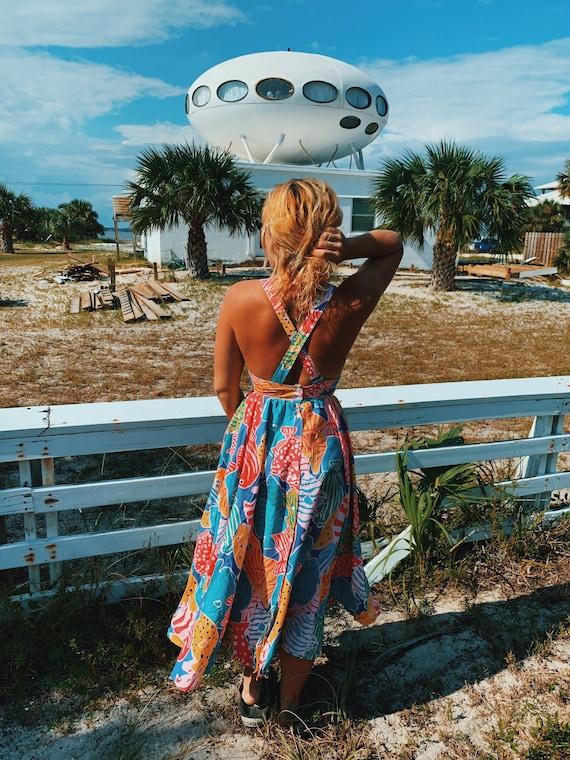 Vintage 1980s Merona Beach Dress - image 1
