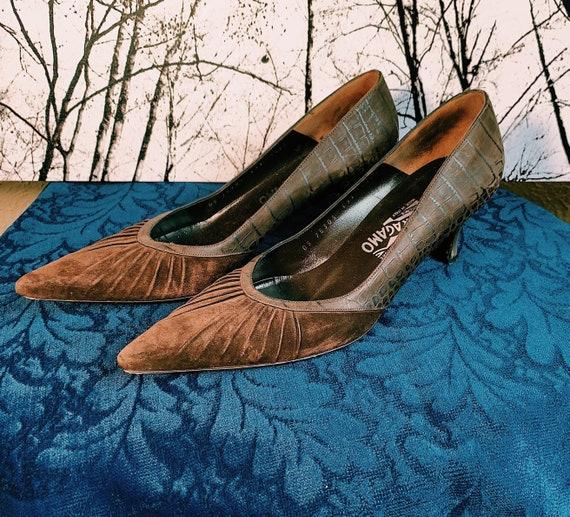 Vintage 1970's Salvatore Ferragamo Kitten Heels