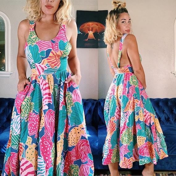 Vintage 1980s Merona Beach Dress - image 2