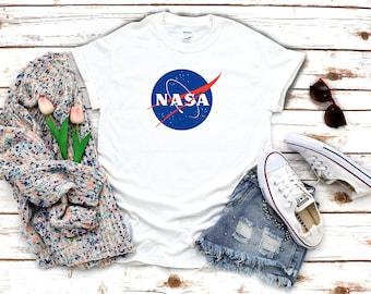 NASA Space logo Short sleeve White Men T-Shirt K740