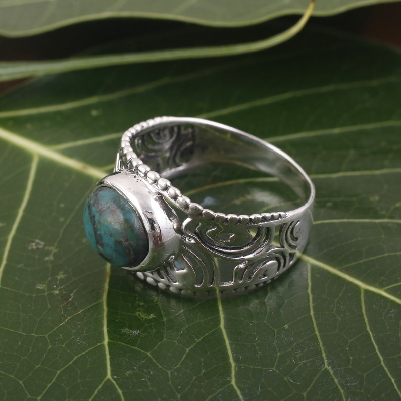Stacking ring Boho Ring   925 Sterling Silver Ring  Ring for man and woman ring Handmade Silver Ring Azurite Gemstone ring