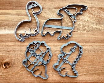 Cute Dinosaurs Cookie Cutter Set - Dino Cookie Stencil