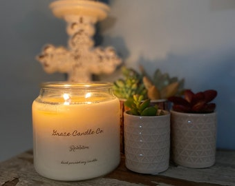 handpoured soy candles, made in Mississippi