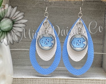 WinCraft University of North Carolina UNC Tar Heels Oval Earrings