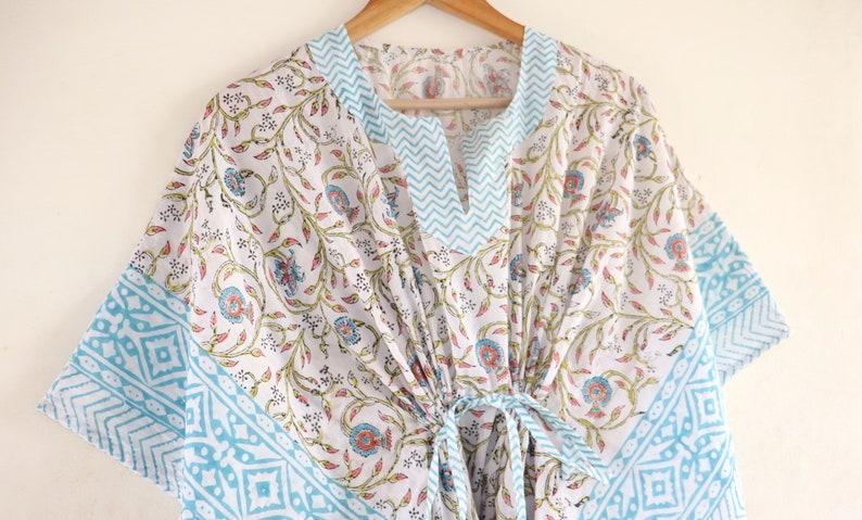 cotton light weight summer wear beach wear dress maxi Gown nightwear Indian Hand Block floral women/'s kaftan