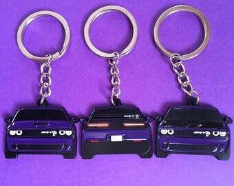 AUGD4613 Licensed Purple Teardrop Keychain for Dodge SRT Hellcat