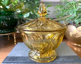 Vintage amber trinket /& candy bowl