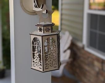 SVG FOR LANTERNS - Laser Cut Lantern - Christmas Lantern Svg - Lantern For holidays - Occasion Lantern - Svg For Gifts